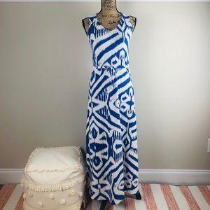 Talbots ikat printed maxi dress